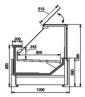 Refrigerated counters Missouri MC 120 deli PP 130-DBM