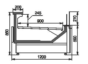 Refrigerated counters Missouri MC 120 deli self 086-DBM