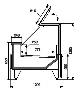 Refrigerated counters Missouri MC 120 deli PP 130-SBM