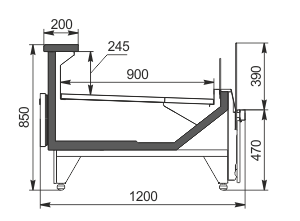 Refrigerated counters Missouri MC 120 deli self 2 086-DBM
