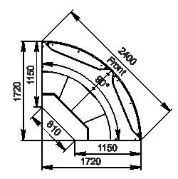 Angular element Missouri cold diamond MC 115 deli PS 121-DLM/DLA-ER90