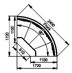 Angular element Missouri cold diamond MC 115 deli self 084-DLM/DLA-ER90