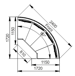 Element narożnik Missouri cold diamond MC 115 deli self 084-DLM/DLA-ER90