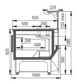 Refrigerated counters Missouri MC 100 sushi/pizza heat L 130-DBA