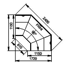 Element narożnik Missouri cold diamond MC 115 deli OS 121-DLM/DLA-ES90
