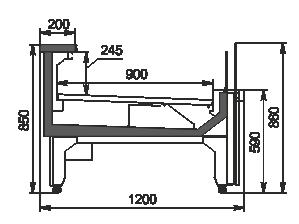Refrigerated counters Missouri MC 120 deli self 086-DLM