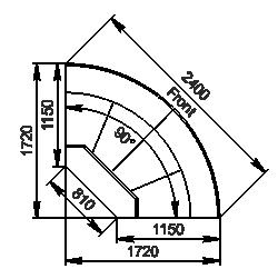 Angular element Missouri cold diamond MC 115 deli OS 121-DLM/DLA-ER90