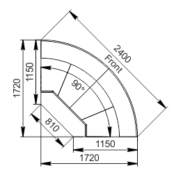 Element narożnik Missouri cold diamond MC 115 deli OS 121-DLM/DLA-ER90