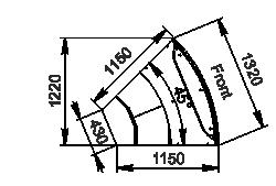 Element narożnik Missouri cold diamond MC 115 deli PS 121-DLM-ER45