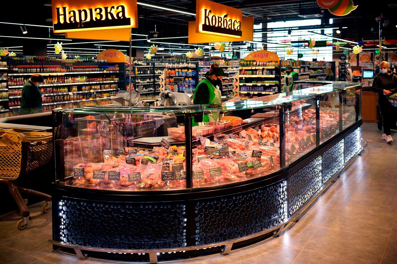 "Lady chłodnicze Missouri MC 120 deli PS M, supermarket ""Pchyolka-market"""