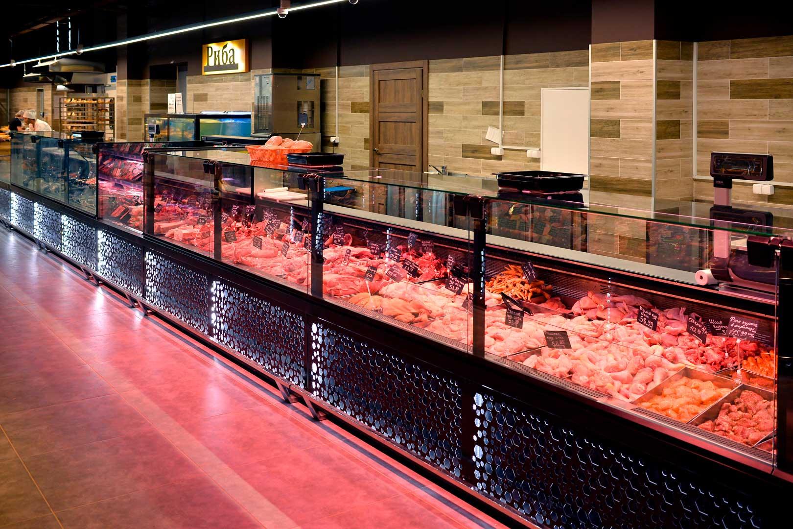 "Refrigerated counters Missouri MC 120 deli PS M, supermarket ""Pchyolka-market"""
