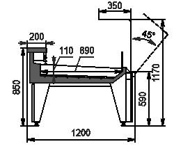 Refrigerated counters Missouri MC 120 fish OS 120-SPLM/SPLA