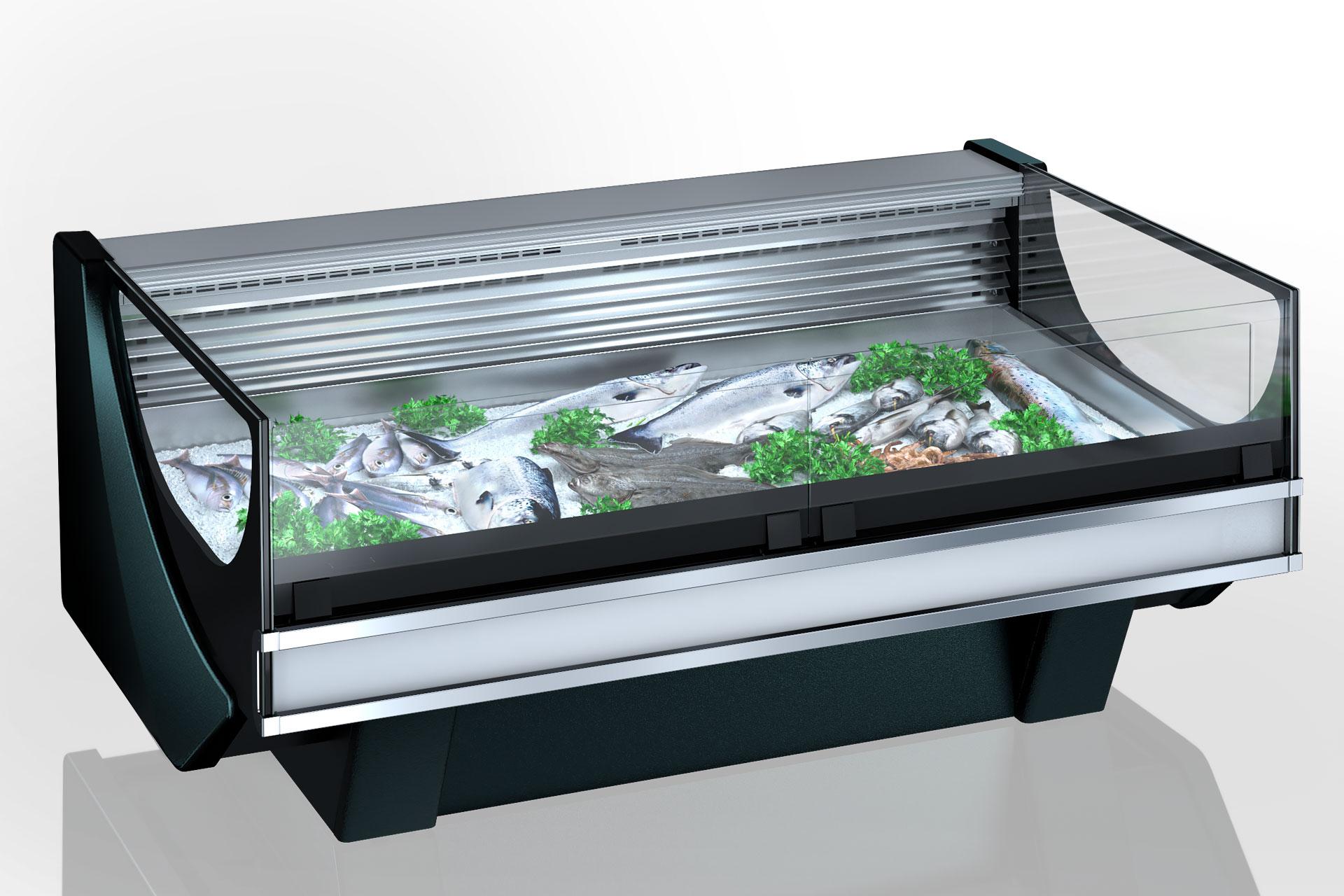 Refrigerated counters Missouri Cold Diamond MC 126 fish PS 130-SPLM/SPLA