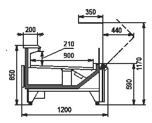 Refrigerating counters Missouri MC 120 deli OS 120-DBM