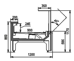 Refrigerating counters Missouri MC 120 deli OS 120-DLM