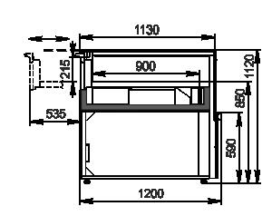 Counters Missouri MC 120 patisserie СН SP 110-DLM/DLA