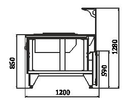 Counters Мissouri NC 120 cauldron L 130