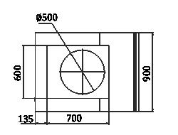 Counters Мissouri NC 120 cauldron L/self 130/086