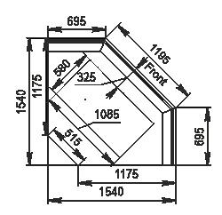 Angular element Мissouri NC120 RT PP 130 ES90