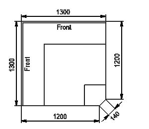 Angular elements of refrigerating counters Missouri MC 120 deli PP/self 130/086-DLM-EL90