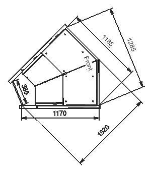 Angular elements of refrigerating counters Missouri MC 120 deli PP/PS/self 130/086-DLM-ES45