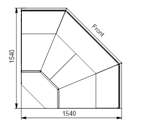 Angular elements of refrigerating counters Missouri MC 120 deli PP/PS/OS/self 130/086-DLM-ES90