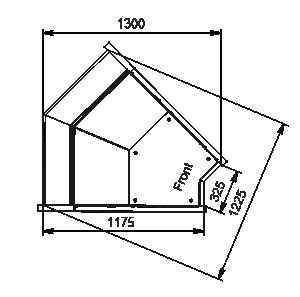 Angular elements of refrigerating counters Missouri MC 120 deli PP/self 130/086-DLM-IS45