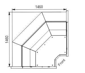 Angular elements of refrigerating counters Missouri MC 120 deli PP/self 130/086-DLM-IS90