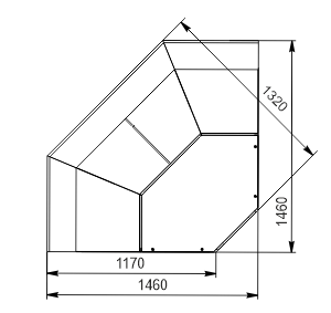 Angular elements of refrigerating counters Missouri MC 120 deli PS 115-DBM-IS90