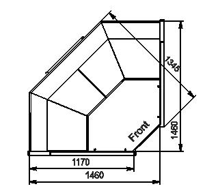 Angular elements of refrigerating counters Missouri MC 120 deli PS 130-DBM-IS90