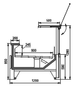 Refrigerated counters Missouri MC 120 deli PS 130-DBM