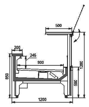 Refrigerated counters Missouri MC 120 deli PS 130-DLM