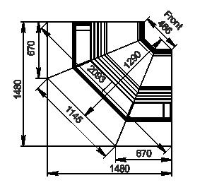 Counters Georgia AG 120 deli OS 125-SBA-IS90