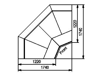 Element narożnik Missouri enigma MC 122 deli OS/self 115/084-DBM-IS90