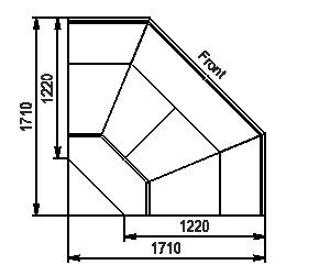 Element narożnik Missouri enigma MC 122 deli OS/self 115/084-DLM-ES90