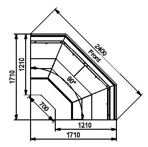 Element narożnikMissouri enigma MC 122 cascade self 130-DLM-ES90