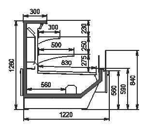 Refrigerated counters Missouri enigma MC 122 cascade self 130-DBM