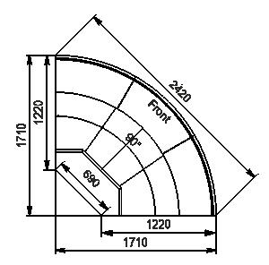 Element narożnik Missouri enigma MC 122 deli OS/self 115/084-DLM-ER90
