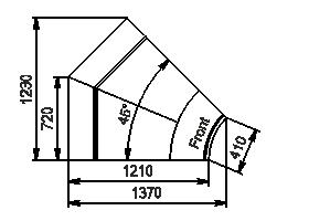 Element narożnik Missouri enigma MC 122 deli OS/self 115/084-DBM-IR45