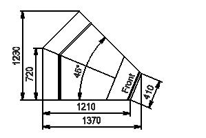 Element narożnik Missouri enigma MC 122 deli OS 115-DBM-IS45