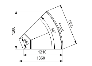 Angular element Missouri enigma MC 122 deli OS/self 115/084-DLM-ER45