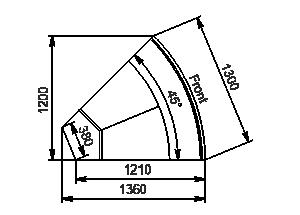 Element narożnik Missouri enigma MC 122 deli OS/self 115/084-DLM-ER45