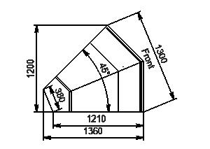Element narożnik Missouri enigma MC 122 deli OS/self 115/084-DLM-ES45