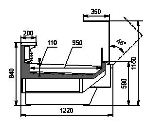Refrigerated counters Missouri enigma MC 122 fish OS 115-SPLM/SPLA