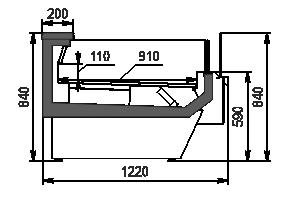 Refrigerated counters Missouri enigma MC 122 LT self 084-DLM