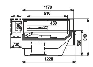 Lady chłodnicze Missouri enigma MC 122 patisserie CH SP 084-DLM/DLA