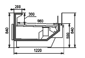 Refrigerated counters Missouri enigma MC 122 self 084-DBM