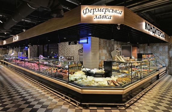 """Wielkie otwarcie supermarketu """"Delikat"""" w Czerkasach."""