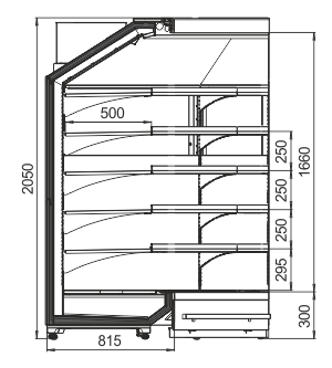 Multideck cabinets Indiana MV 080 MT O 205-DLA-IS90