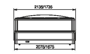 Urządzenia do żywności mrożonej Yukon cube MH 160/200 LT C 088-SLA/DLM TL z pokrywami